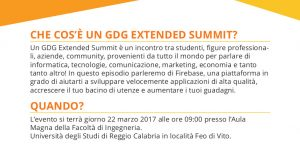 GDG Extended Summit